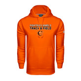 Under Armour Orange Performance Sweats Team Hoodie-Track and Field Design