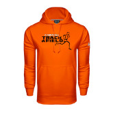Under Armour Orange Performance Sweats Team Hoodie-Track and Field Runner Design
