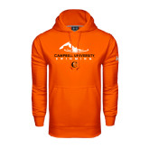 Under Armour Orange Performance Sweats Team Hoodie-Swimming Design