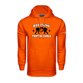 Under Armour Orange Performance Sweats Team Hoodie-Wrestling Design