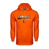 Under Armour Orange Performance Sweats Team Hoodie-Lacrosse Stick Design
