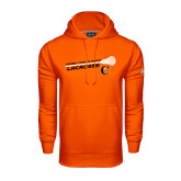 Under Armour Orange Performance Sweats Team Hoodie-Lacrosse Stick Rise Design