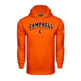 Under Armour Orange Performance Sweats Team Hoodie-Arched Campbell University