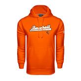 Under Armour Orange Performance Sweats Team Hoodie-Baseball Bat Design