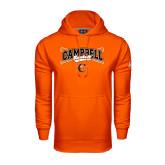 Under Armour Orange Performance Sweats Team Hoodie-Baseball Crossed Bats Design