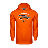 Under Armour Orange Performance Sweats Team Hoodie-Inside Football Ball Design
