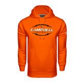 Under Armour Orange Performance Sweats Team Hoodie-Lighting Football Ball Design