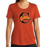 Ladies Syntrel Performance Orange Tee-C w/ Camel Head