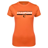 Ladies Syntrel Performance Orange Tee-2017 Southern Conference Wrestling