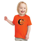 Toddler Orange T Shirt-Campbell Official Logo