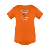 Orange Infant Onesie-Daddys Little Fighting Camel