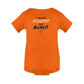 Orange Infant Onesie-I Bleed Orange and Black