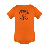 Orange Infant Onesie-Fighting Camels New Fan