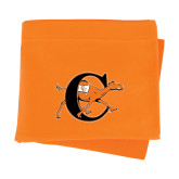 Orange Sweatshirt Blanket-Campbell Official Logo