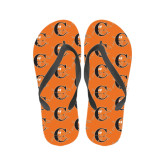 Ladies Full Color Flip Flops-Campbell Official Logo
