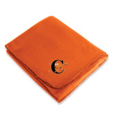 Orange Arctic Fleece Blanket-Campbell Official Logo