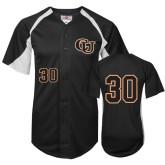 Replica Black Adult Baseball Jersey-#30