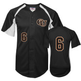 Replica Black Adult Baseball Jersey-#6