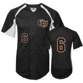 Replica Black Adult Baseball Jersey-#6