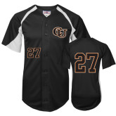 Replica Black Adult Baseball Jersey-#27