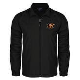 Full Zip Black Wind Jacket-Campbell Official Logo