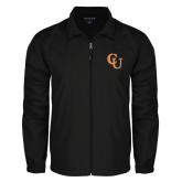 Full Zip Black Wind Jacket-CU