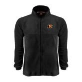 Fleece Full Zip Black Jacket-Campbell Official Logo
