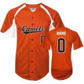 Replica Orange Adult Baseball Jersey-Personalized
