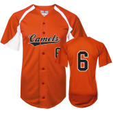 Replica Orange Adult Baseball Jersey-#6