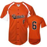 Replica Orange Adult Baseball Jersey-#6