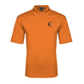 Orange Performance Fine Jacquard Polo-Campbell Official Logo