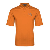 Orange Performance Fine Jacquard Polo-CU