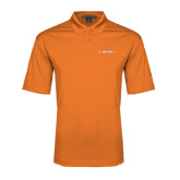 Orange Performance Fine Jacquard Polo-Campbell Flat