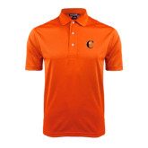 Orange Dry Mesh Polo-Campbell Official Logo