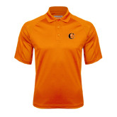Orange Textured Saddle Shoulder Polo-Campbell Official Logo