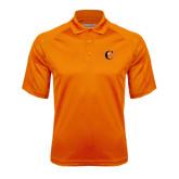 Orange Textured Saddle Shoulder Polo-Campbell Official Logo