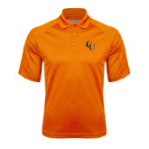 Orange Textured Saddle Shoulder Polo-CU