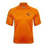 Orange Textured Saddle Shoulder Polo-CU