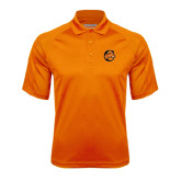 Orange Textured Saddle Shoulder Polo-C w/ Camel Head