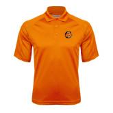 Orange Textured Saddle Shoulder Polo-C w/ Camel Head
