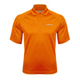 Orange Textured Saddle Shoulder Polo-Campbell Flat