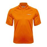 Orange Textured Saddle Shoulder Polo-Campbell Flat