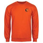 Orange Fleece Crew-Campbell Official Logo