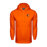 Under Armour Orange Performance Sweats Team Hoodie-Campbell Official Logo