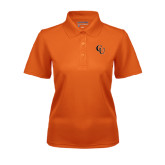 Ladies Orange Dry Mesh Polo-CU