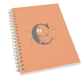 Clear 7 x 10 Spiral Journal Notebook-Campbell Official Logo