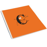 College Spiral Notebook w/Clear Coil-Campbell Official Logo