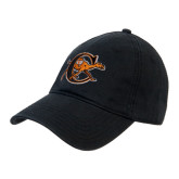 Black Heavyweight Twill Pro Style Hat-Campbell Official Logo
