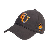 Charcoal Twill Unstructured Low Profile Hat-CU
