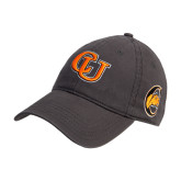 Charcoal Twill Unstructured Low Profile Hat-Interlockin CU